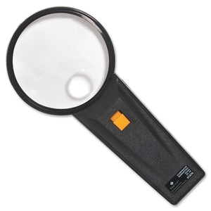 """Sparco Products 01878 Illuminated Magnifier,Round,2X Main/4X Bifocal,3"""" Dia.,BK by Sparco"""