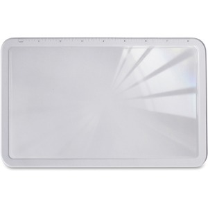 """Sealed Air Corporation 10601 Handheld Magnifier, Full Page, 2X Main, 5-3/4""""W x 9-3/4""""H by Sparco"""