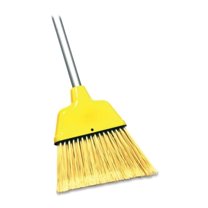 "Genuine Joe 58562 Angle Broom, High Performance Bristles, 9"" W, Yellow by Genuine Joe"
