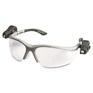 3M 114760000010 LightVision Safety Glasses w/LED Lights, Clear AntiFog Lens, Gray Frame by 3M/COMMERCIAL TAPE DIV.