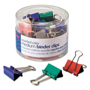 OFFICEMATE INTERNATIONAL CORP. OIC-31029 Binder Clips, Metal, Assorted Colors, Medium, 24/Pack by OFFICEMATE INTERNATIONAL CORP.