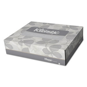 White Facial Tissue, 2-Ply, 65 Tissues/Box, 48 Boxes/Carton by KIMBERLY CLARK