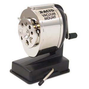 ELMER'S PRODUCTS, INC 1072 KS Manual Vacuum Mount Classroom Pencil Sharpener, Black/Chrome by ELMER'S PRODUCTS, INC.