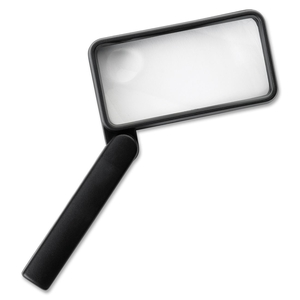 """Sparco Products 01877 Rectangular Magnifier, 2X Main W/4X Bifocal, 2""""x4"""", Black by Sparco"""