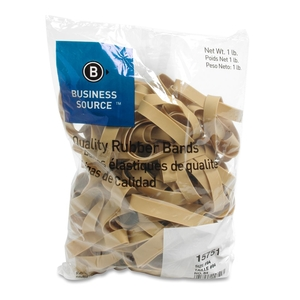 """Business Source 15751 Rubber Bands,Size 84,1 lb./BG,3-1/2""""x1/2"""",Natural Crepe by Business Source"""
