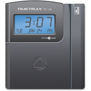 Pyramid Time Systems TTEZEK Time Clock System, w/50 Swipe Cards, Ethernet, Blue/Silver by Pyramid Time Systems