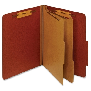 Tops Products PU61 RED Classification Folder, 2 Partitions, Letter, Red by Globe-Weis