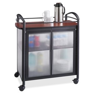 """Safco Products 8966BL Refreshment Cart,4 Swivel Casters,34""""x21-1/4""""x36-1/2"""",BK/CY by Safco"""