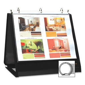 """Lion Office Products, Inc 40008 Ring Binder Easel, 3/4"""" Cap, Horizontal, 11""""x8-1/2"""", Black by Lion"""