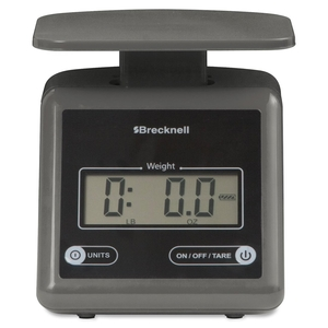 """Avery Weigh-Tronix PS7GRAY Electronic Postal Scale,7 lb Cap.,5-3/5""""x6-4/5""""x5-1/2"""",Gray by Brecknell"""