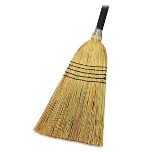 """Genuine Joe 58563 Lobby Blend Broom, 11"""" W, 56"""" Handle, Natural by Genuine Joe"""