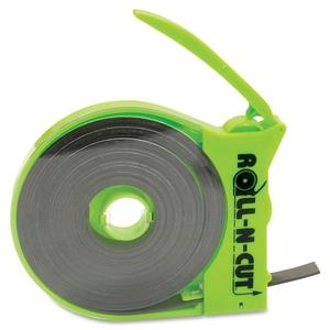 "BAUMGARTENS 66021 Magnetic Tape Roll,w/Dispenser,1/2""x15',BK Tape/GN Dispenser by Baumgartens"
