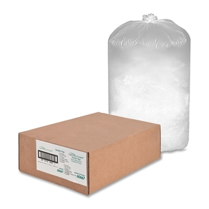 """Compucessory 60667 Shredder Bags, 10 Microns, 26""""x18""""x48"""", 56 Gal, 100/PK,White by Compucessory"""