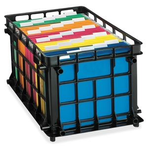 "Tops Products 27570 File Crate, Letter/Legal, 18-3/4""x11-1/2""x16-3/4"", Black by Pendaflex"