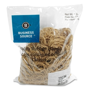 """Business Source 15730 Rubber Bands,Size 12,1 lb./BG,1-3/4""""x1/16"""",Natural Crepe by Business Source"""