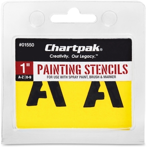 """Chartpak, Inc 01550 Painting Stencil Numbers/Letters, 1"""", Yellow by Chartpak"""
