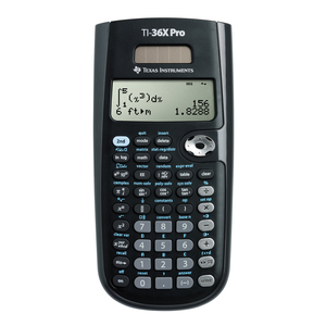 TEXAS INSTRUMENTS INC. 36PRO/TBL/1L1 TI-36X Pro 4-Line Scientific Calculator