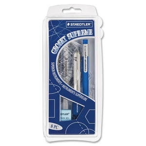Staedtler Mars GmbH & Co. 55981CS Geometry Set, 8 Pieces Packed In Plastic Storage Case by Staedtler