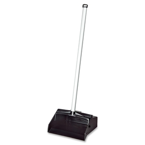 "Dustpan, Aluminum 32"" Handle,12""x11"" Plastic Hopper, BK by SKILCRAFT"