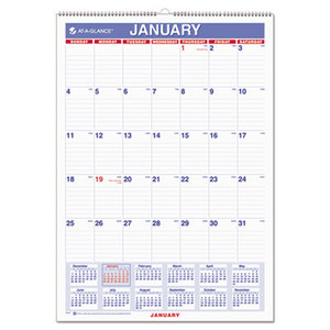 AT-A-GLANCE PM2-28 Monthly Wall Calendar with Ruled Daily Blocks, 12 x 17, White, 2016 by AT-A-GLANCE