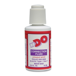 National Industries For the Blind 7510-01-333-6242 Correction Fluid, Solvent Based, Type III,3/5 oz., White by SKILCRAFT