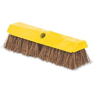 "Newell Rubbermaid, Inc 9B3400 Deck Brush, 2"" Palmyra Bristles, Plastic Block, 10""L, Yellow by Rubbermaid"