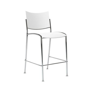 Mayline Group ESC2B Escalate Stacking Chair, Plastic Back/Seat, Black, 4 Chairs/Carton by MAYLINE COMPANY