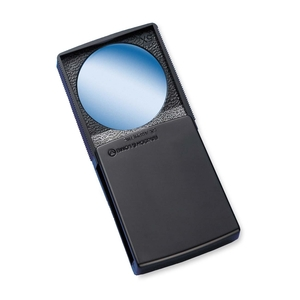"""Bausch & Lomb, Inc 813133 Round Magnifier with Cover, 5x, 2"""", Black Frame by Bausch & Lomb"""