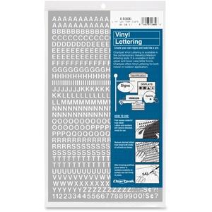 """Chartpak, Inc 01006 Vinyl Numbers/Letters, 1/4"""", White by Chartpak"""