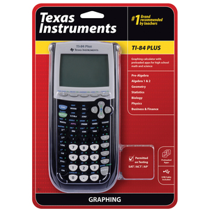 TEXAS INSTRUMENTS INC. 84PL/TBL/1L1 TI-84 Plus Graphing Calculator (with preloaded apps for high school math and science)