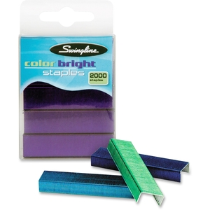 "ACCO Brands Corporation S7035121 Staples,105 Staples P/ Strip,Standard,1/4""L,2000/BX,Assorted by Swingline"