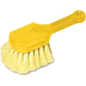 Newell Rubbermaid, Inc 9B29 Pot Scrubber Brush, 8 Plastic Handle, Gray Handle with Yellow Bristles (RUB9B29) by Rubbermaid