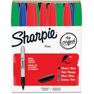Newell Rubbermaid, Inc 1921559 Permanent Marker, Fine Point, 36/PK, Assorted by Sharpie