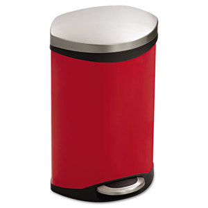 Safco Products 9901RD Step-On Medical Receptacle, 3gal, Red by SAFCO PRODUCTS