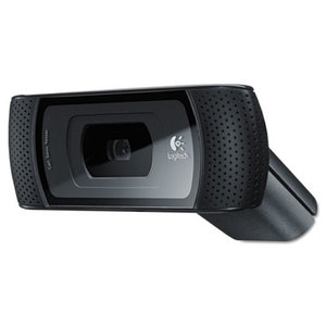 Logitech 960-000683 B910 HD Webcam, 720p, Black by LOGITECH, INC.