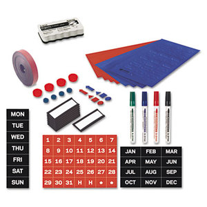 Bi-silque S.A KT1416 Magnetic Board Accessory Kit, Blue/Red by BI-SILQUE VISUAL COMMUNICATION PRODUCTS INC