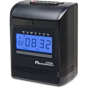 Acroprint Time Recorder Company 010270001 Clock Time Recorder Bk by Acroprint