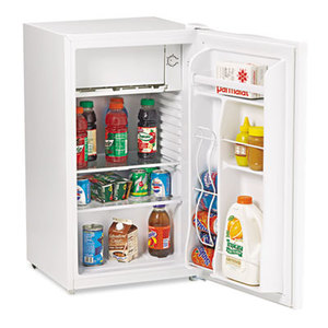 Avanti Products RM3420W 3.3 Cu.Ft Refrigerator with Can Dispenser and Door Bins, White by AVANTI