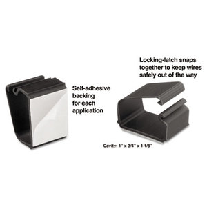 MASTER CASTER COMPANY 00204 Self-Adhesive Wire Clips, Black, 6/Pack by MASTER CASTER COMPANY