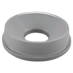 Untouchable Funnel Top, Round, 16 1/4 Diameter, Gray by RUBBERMAID COMMERCIAL PROD.