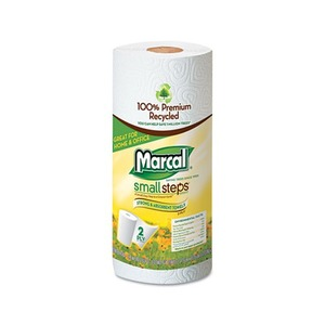 PACKAGING DYNAMICS 6709 100% Recycled Roll Towels, 9 x 11, 60 Sheets, 15 Rolls/Carton by MARCAL MANUFACTURING, LLC