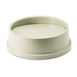 Swing Top Lid for Round Waste Container, Plastic, Beige by RUBBERMAID COMMERCIAL PROD.