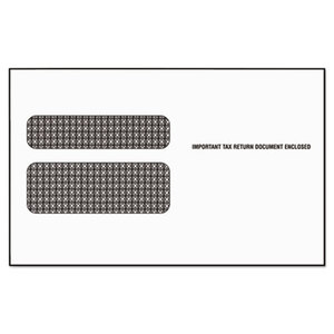 Tops Products 2219LR Double Window Tax Form Envelope for W-2 Laser Forms, 9x5-5/8, 50/Pack by TOPS BUSINESS FORMS
