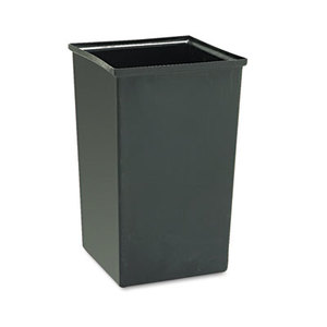 Safco Products 9669 Rigid Liner for SAF9728/SAF9729 Waste Receptacles, Plastic, 36gal, Black by SAFCO PRODUCTS