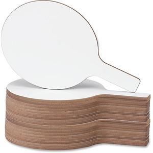"Flipside Products, Inc 24032 Dry Erase Answer Paddle, 7""X12"", 24/Pk, White by Flipside"