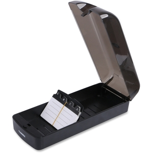 Rotary File Card, 650 Capacity, Black by Lorell