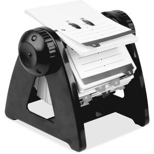 Kimberly-Clark Corporation 01032 Rotary Card File, 250 Capacity, Black by Lorell