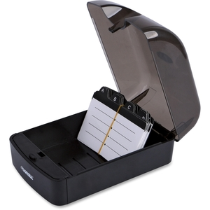 Lorell Furniture 01028 Rotary File Card, 350 Capacity, Black by Lorell