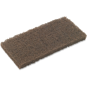 3M 08004 Scrub-N-Strip Pad, 4/BX, Brown by 3M