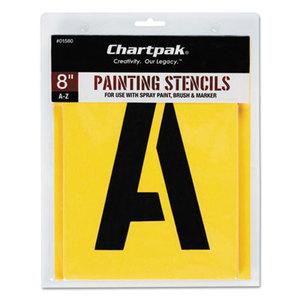 Chartpak, Inc 01580 Painting Stencil Set, A-Z Set, Manila, 26/Set by CHARTPAK/PICKETT